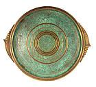 Arts & Crafts Carl Sorensen Round Bronze Cocktail Tray
