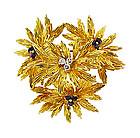 Tiffany & Co. 18K Gold, Sapphire & Diamond Brooch
