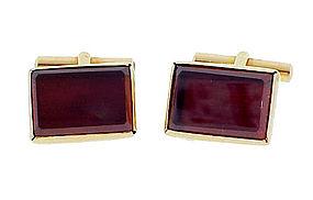 18K Gold & Pyrope-Almandite Garnet Cufflinks