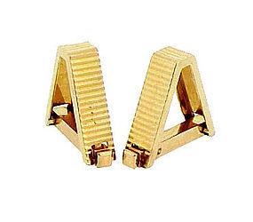 French 18K Yellow Gold Stirrup Cufflinks