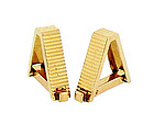 French 18K Yellow Gold Stirrup Cufflinks