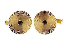 Tiffany & Co. 14K Yellow Gold & Sapphire Cufflinks