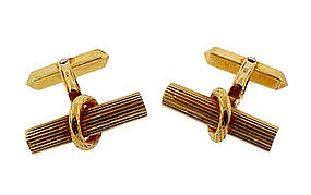 Cherny 18K Gold Baton Cufflinks