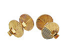 Birks Art Deco 14K Gold Flip-Up Cufflinks