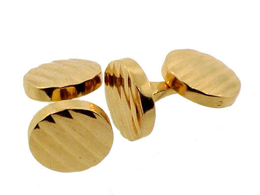Tiffany & Co. 14K Yellow Gold Double-Faced Cufflinks
