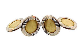 Art Deco German Gilt Silver Cufflinks