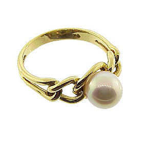 Tiffany & Co. 18K Gold & Pearl Ring