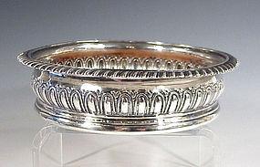 George III Regency Sterling Silver Wine Coaster