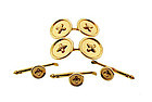 Tiffany & Co. 14K Yellow Gold Button Dress Set