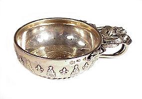 Louis XV Sterling Silver Tastevin by Michel Delapierre
