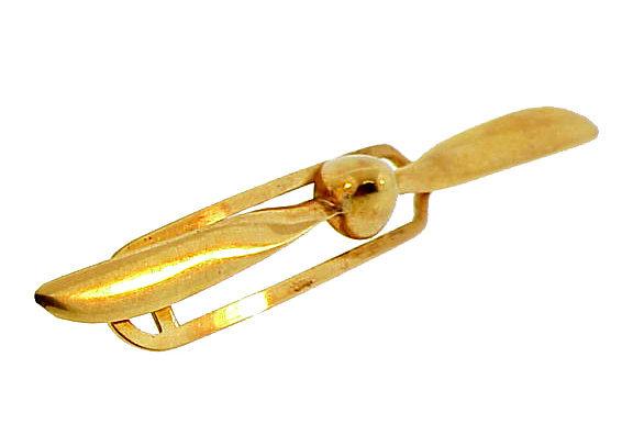 1940�s 14K Gold Airplane Propeller Tie Bar