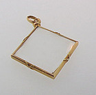 Victorian French 18K Yellow Gold Crystal Photo Locket
