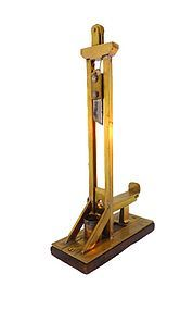 Victorian French Bronze Guillotine Figural Cigar Cutter