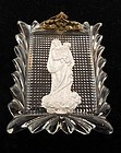 Baccarat Madonna & Child Sulphide Paperweight Plaque