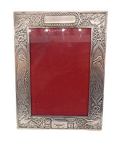 Edwardian Sterling Silver Baby Picture Frame
