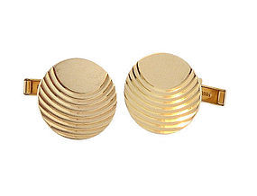 Art Deco 14K Gold Cufflinks