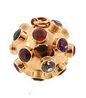H Stern 18K Gold Multi-Stone Sputnik Charm/Pendant