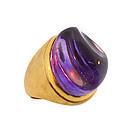 Burle Marx Modernist 18K Gold & Amethyst Ring
