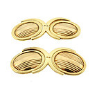 Art Deco 14K Gold Double Swivel Cufflinks