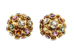 H Stern 18K Gold & Gemstone Sputnik Earrings