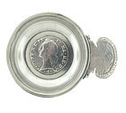 French Silver Louis XV LONG LIVE LOVE & WINE Tastevin