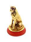 Victorian 18K Gold Ruby Carnelian Hound Dog Fob Seal