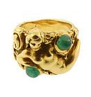 Galerie Francois Gennari 18K Gold Emerald Mermaid Ring