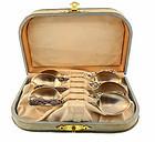 Paye & Baker Art Nouveau Sterling Silver Floral Demitasse Spoons