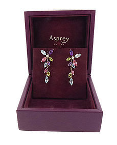 Asprey 18K White Gold Diamond & Gemstone Daisy Earrings