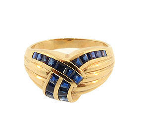 14K Gold & Sapphire Knot Ring