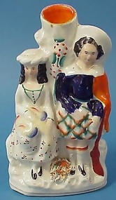 Staffordshire Figural Group--Hunters