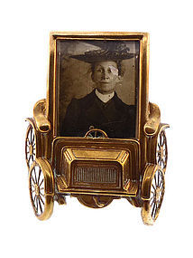 Edwardian Brass Automobile Picture Frame