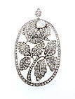 Art Deco 4.6-ct Diamond & Platinum Rose Pendant