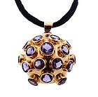 H Stern 18K Gold & Amethyst Sputnik Pendant