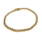 14K Yellow Gold & 1-Ct Diamond Tennis Line Bracelet