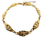 Art Nouveau 14K Gold & Diamond Bracelet