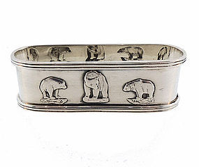 Sterling Silver Three Bears Child's Napkin Ring