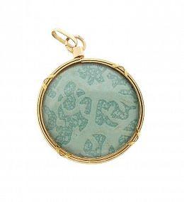 French Louis XVI Style 18K Gold & Crystal Porte-Photo Locket