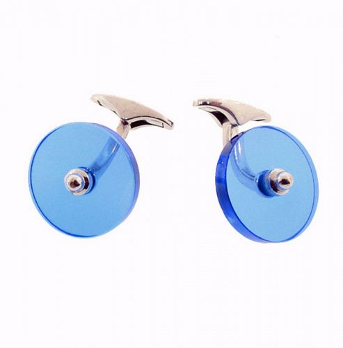 Paul Longmire 18K White Gold & Synthetic Blue Spinel Cufflinks