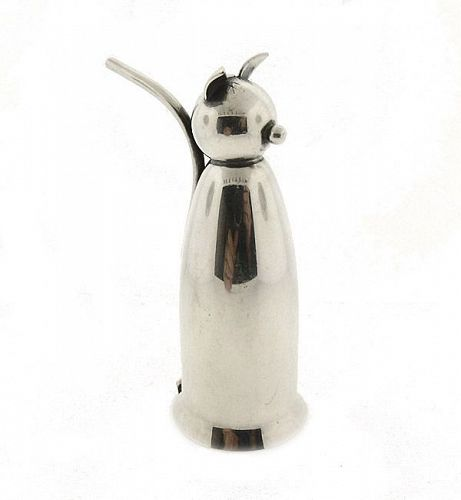 Napier Art Deco Silverplate Cat Jigger