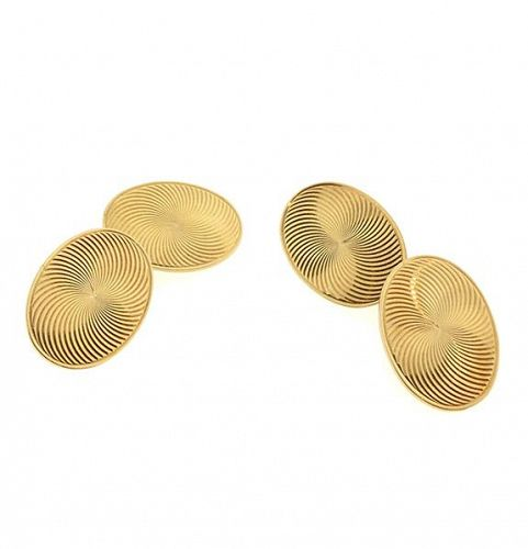 Edwardian Carrington 14K Yellow Gold Double-Sided Cufflinks