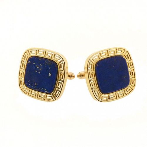 14K Yellow Gold & Lapis Lazuli Cufflinks
