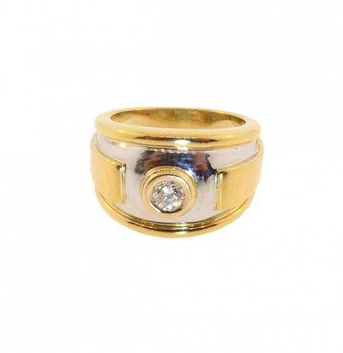 Vintage Cartier 18K Yellow & White Gold Diamond Ring