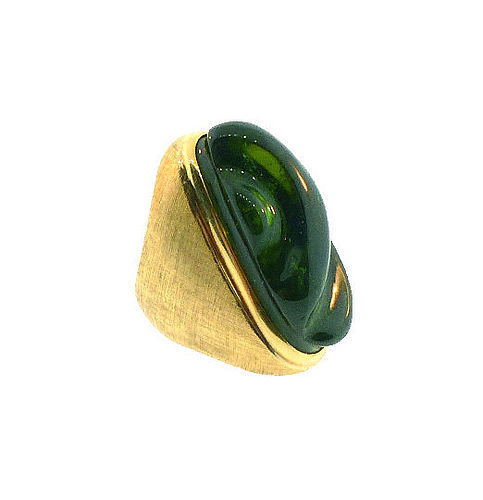 Haroldo Burle Marx 18K Gold & Green Tourmaline Forma Livre Ring