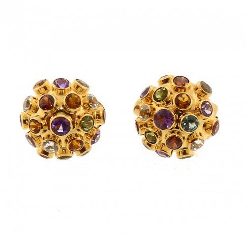 H Stern 18K Gold & Multi-Gemstone Sputnik Earrings