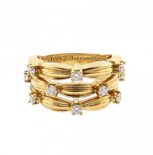 TIFFANY SIGNATURE SERIES 18K Yellow Gold & Diamond Ring