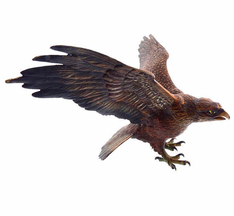 Antique Franz Bergmann Cold-Painted Vienna Bronze Eagle