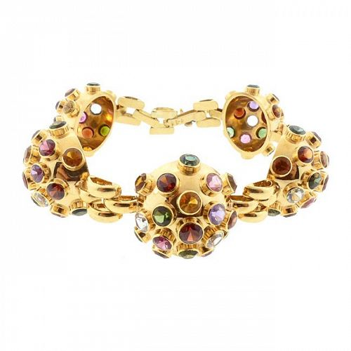 H Stern 18K Gold & Multicolored Gemstone Sputnik Bracelet