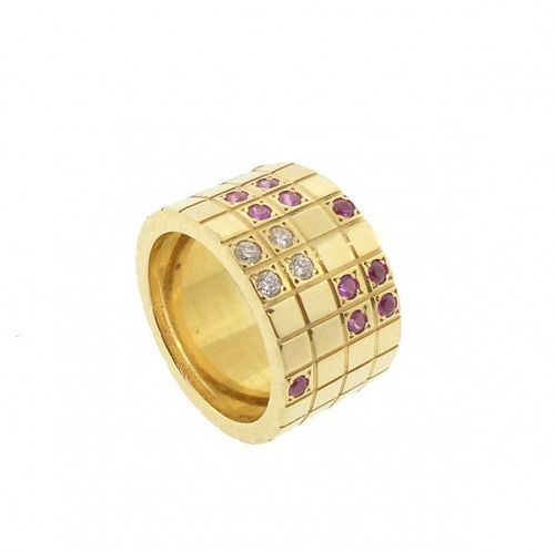 Cartier 18K Gold, Diamond & Ruby LANIERES Ring