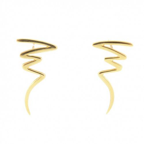 Tiffany & Co. Paloma Picasso 18K Gold SCRIBBLE Earrings